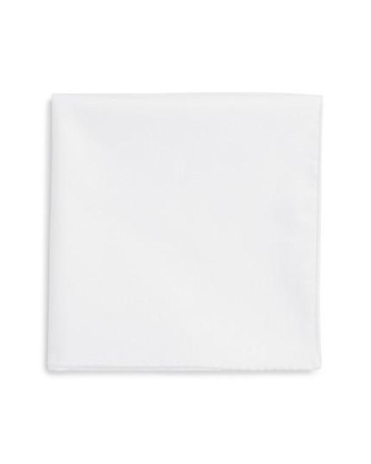 Ted Baker - White Solid Cotton Pocket Square for Men - Lyst