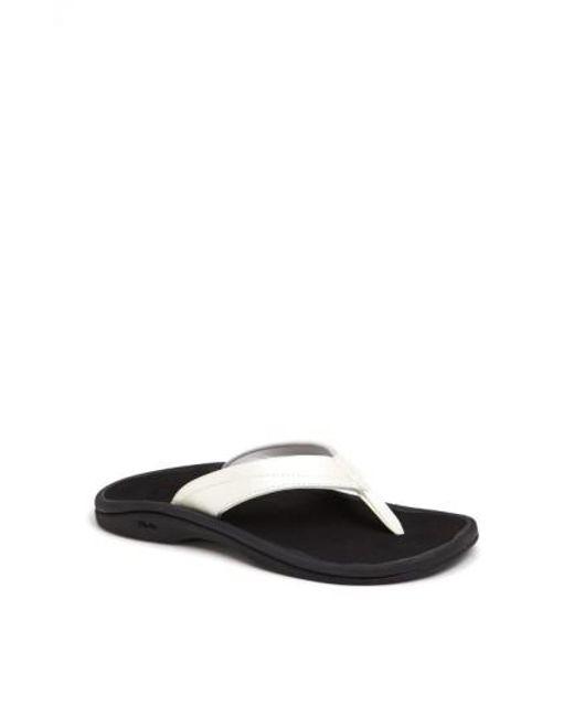 Olukai | White 'ohana' Sandal | Lyst