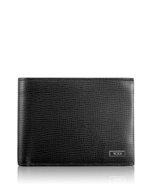 Tumi - Black 'monaco' Global Leather Wallet With Coin Pocket for Men - Lyst