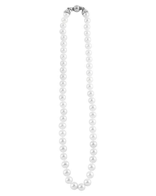 Lagos - Metallic 'luna' 8mm Pearl Necklace - Lyst