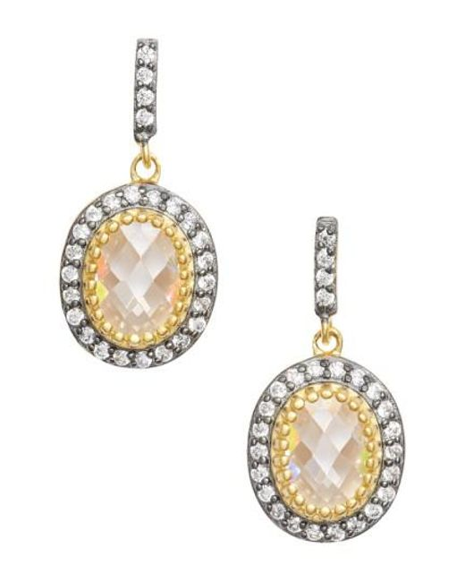 Freida Rothman | Metallic Opera Drop Earrings | Lyst