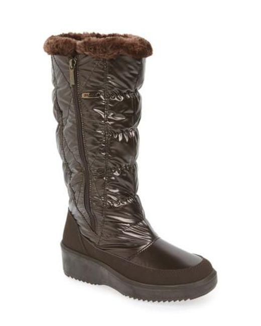 Pajar | Brown 'alexandra' Waterproof Boot | Lyst