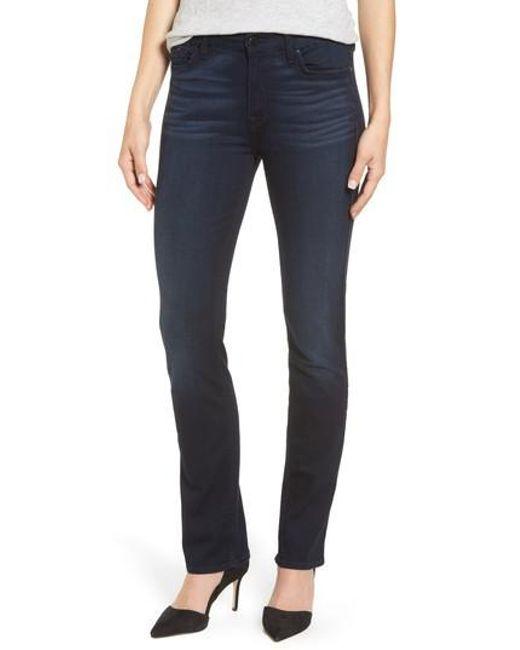 Jen7 | Blue Slim Straight Jeans | Lyst