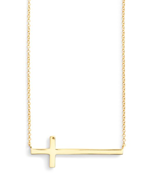 Argento Vivo - Metallic Modern Sideways Cross Pendant Necklace - Lyst