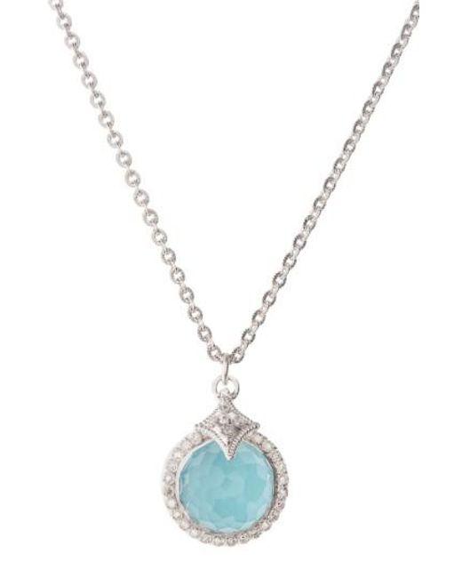 Armenta | Metallic New World Turquoise Pendant Necklace | Lyst