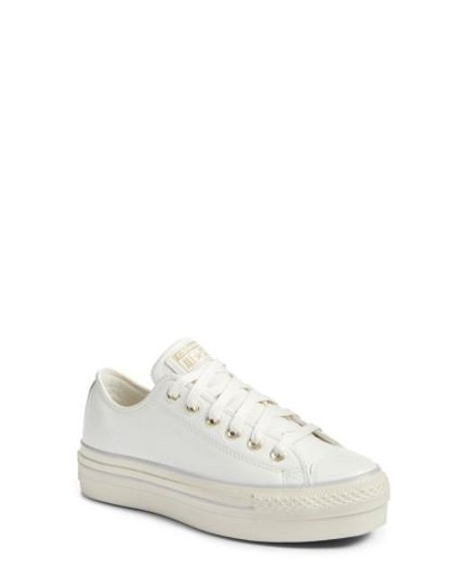 Converse | White Chuck Taylor All Star Platform Sneaker | Lyst