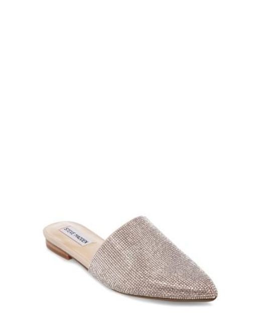 Steve Madden Trace Rhinestone Embellished Jeweled Slip-On Mules