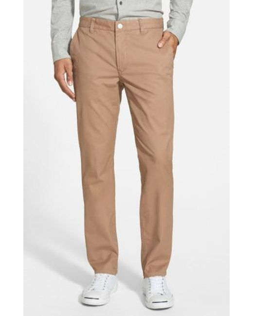 Bonobos | Brown Tailored Fit Washed Chinos for Men | Lyst