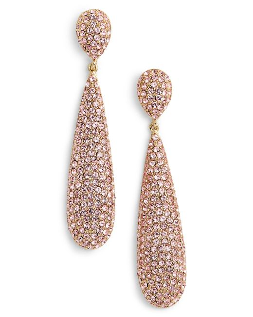 Nina - Multicolor Elongated Pave Swarovski Crystal Teardrop Earrings - Lyst