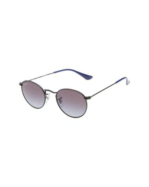 86c834a2ac Lyst - Ray-Ban Junior 44mm Round Sunglasses in Black