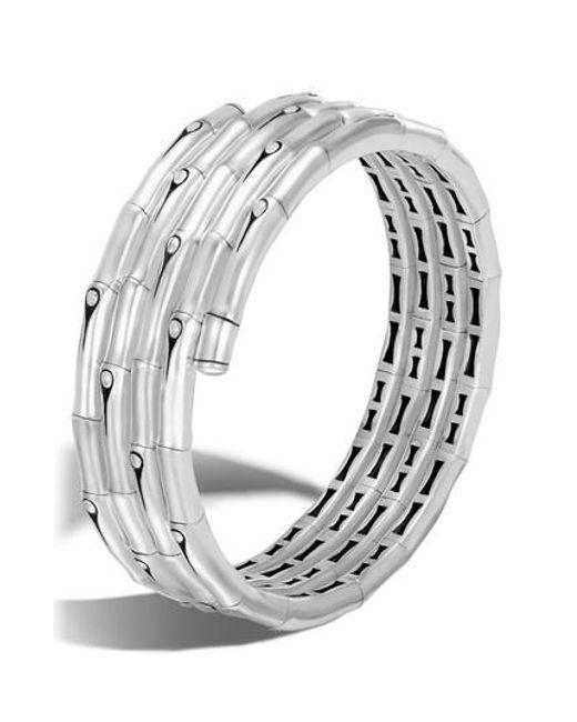 John Hardy - Metallic Bamboo Four Coil Bracelet - Lyst