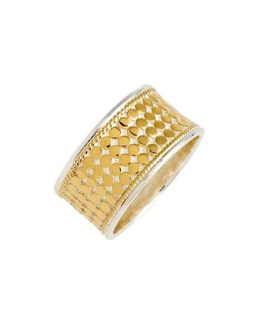 Anna Beck - Metallic Vermeil Cigar Band Ring - Lyst