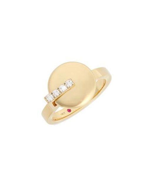 Roberto Coin   Metallic Diamond Ring   Lyst