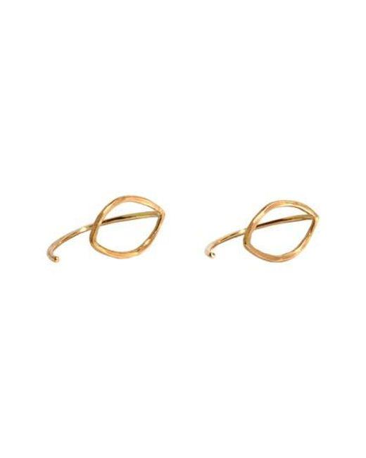 Melissa Joy Manning   Metallic Small Oval Threader Stud Earrings   Lyst