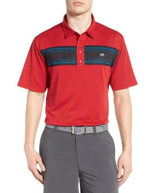 Travis Mathew | Red Lee Pique Polo for Men | Lyst