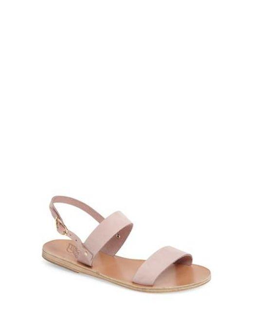 Ancient Greek Sandals   Pink Clio Slingback Sandal   Lyst