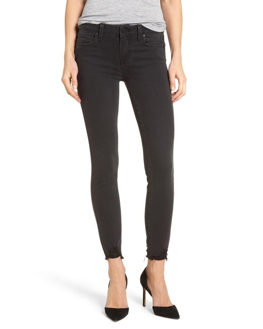 PAIGE - Black Transcend - Verdugo Ankle Skinny Jeans - Lyst