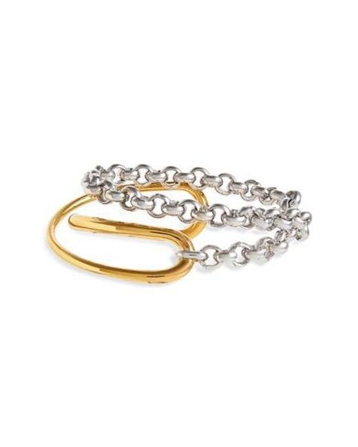 Charlotte Chesnais Initial chain bracelet - Metallic 1ijLa