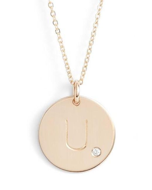 Nashelle   Metallic Diamond Initial Pendant Necklace   Lyst
