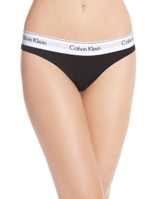 CALVIN KLEIN 205W39NYC - Black Logo Thong - Lyst