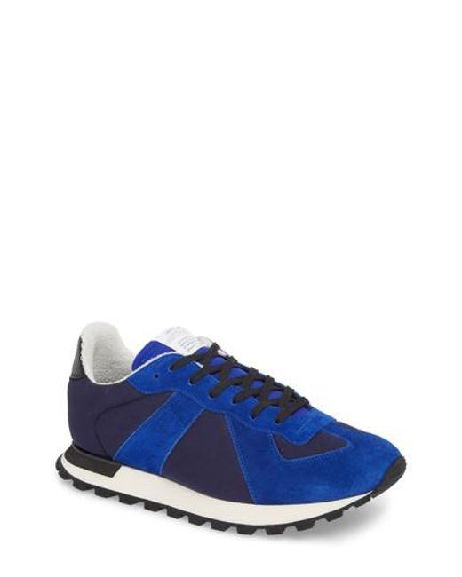 MM6 by Maison Martin Margiela - Blue Maison Margiela Replica Runner Sneaker for Men - Lyst