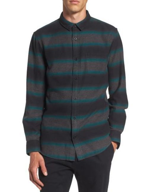 The Rail | Black Brushed Ombre Shirt for Men | Lyst