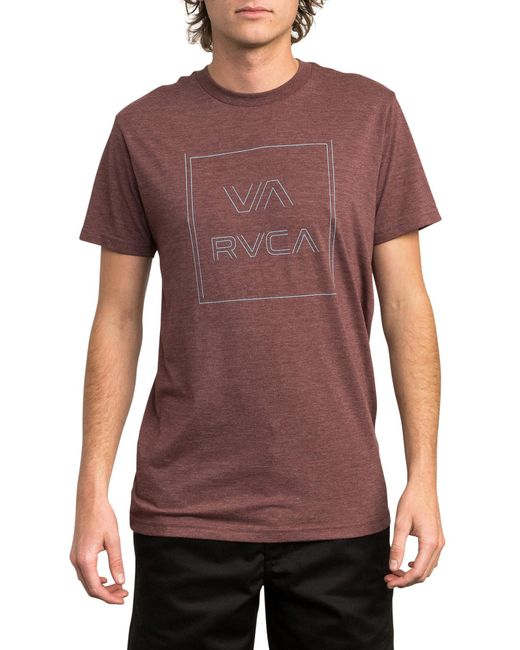 RVCA - Purple Pinner All The Way Graphic T-shirt for Men - Lyst