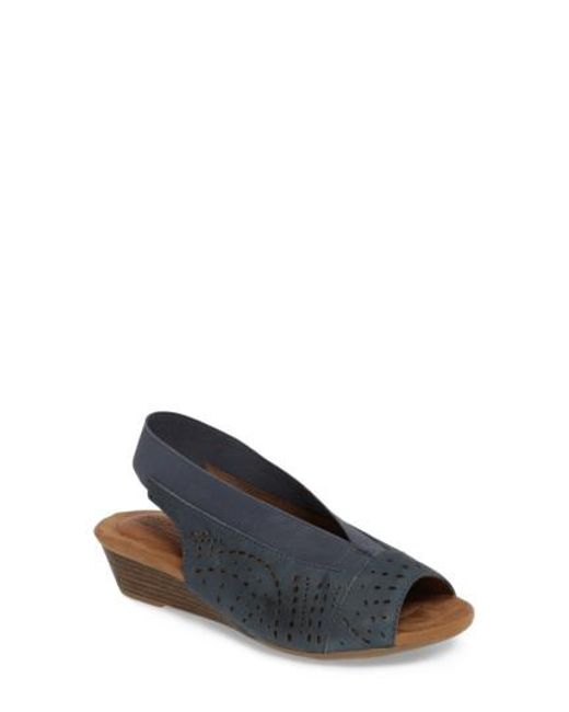 Cobb Hill - Blue Judson Slingback Wedge Sandal - Lyst