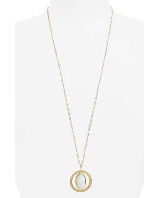 Anna Beck | Metallic White Opal Long Pendant Necklace | Lyst