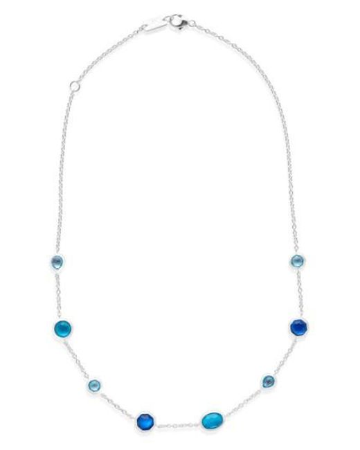 Ippolita - Blue Wonderland Station Necklace - Lyst