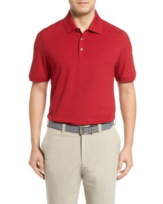 Cutter & Buck | Red Advantage Golf Polo for Men | Lyst