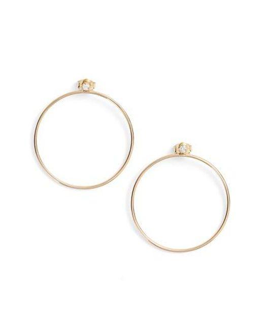 Zoe Chicco | Metallic Diamond Circle Ear Jackets | Lyst