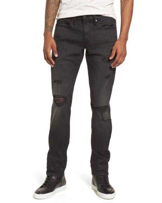 FRAME - Black L'homme Slim Straight Fit Jeans for Men - Lyst
