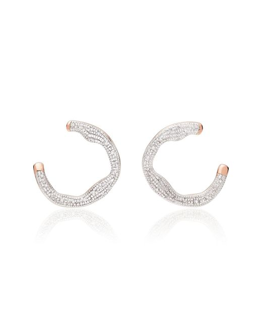 Monica Vinader - Metallic Riva Diamond Circle Wrap Earrings - Lyst