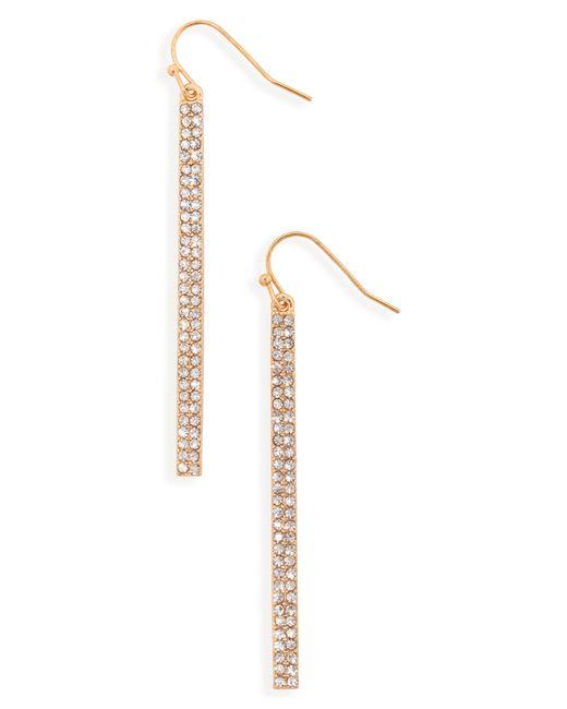 Panacea - Metallic Crystal Linear Drop Earrings - Lyst