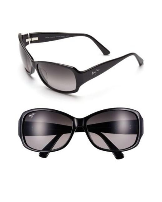 Maui Jim   Nalani 61mm Polarizedplus2 Sunglasses - Gloss Black   Lyst
