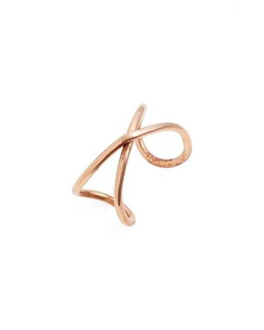 Nashelle | Metallic Infinity Ring | Lyst