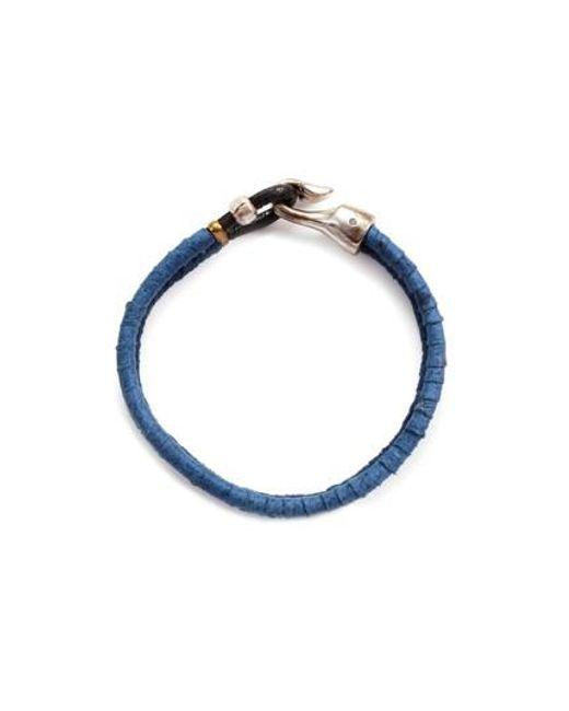 George Frost | Blue Harpoon Bracelet | Lyst