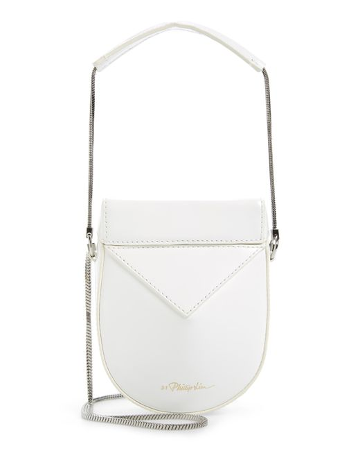 3.1 Phillip Lim - White Mini Soleil Chain Strap Leather Shoulder Bag - Lyst