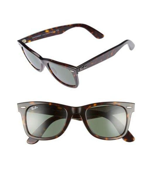 Ray-Ban - Black 'classic Wayfarer' 50mm Sunglasses - Lyst