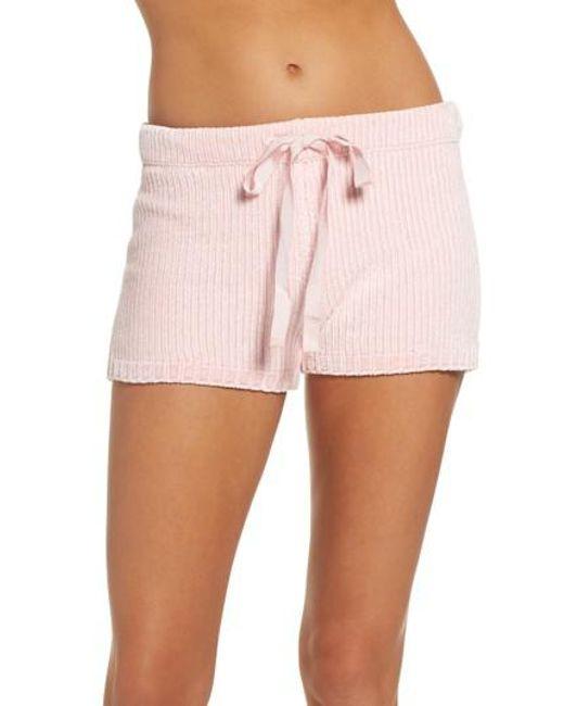 Pj Salvage   Pink Chenille Shorts   Lyst