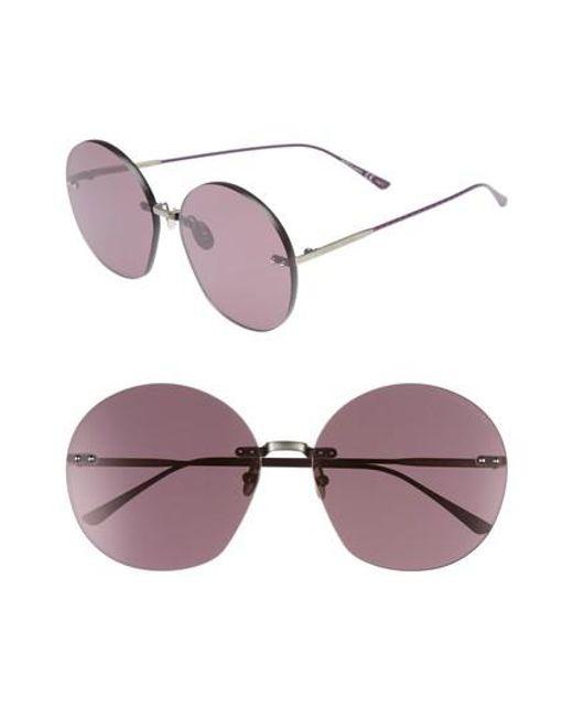 Bottega Veneta - Multicolor 63mm Round Sunglasses - Lyst