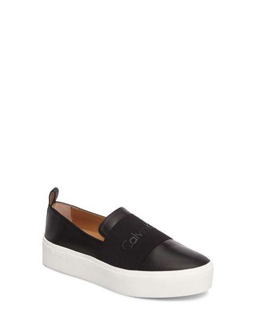 CALVIN KLEIN 205W39NYC - Black Jacinta Platform Sneaker - Lyst
