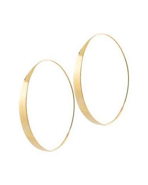 Lana Jewelry - Metallic Bond Endless Hoop Earrings - Lyst