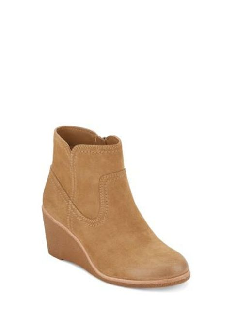 G.H. Bass & Co. | Natural Rosanne Wedge Bootie | Lyst