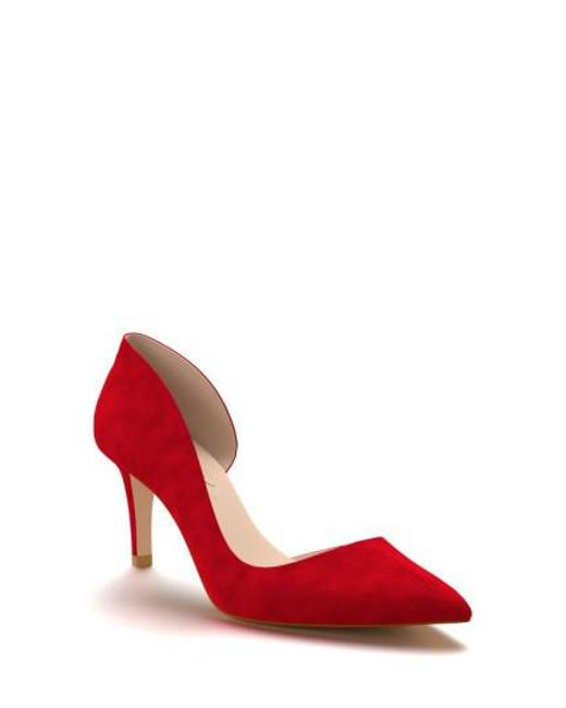Shoes Of Prey | Red Half D'orsay Pump | Lyst