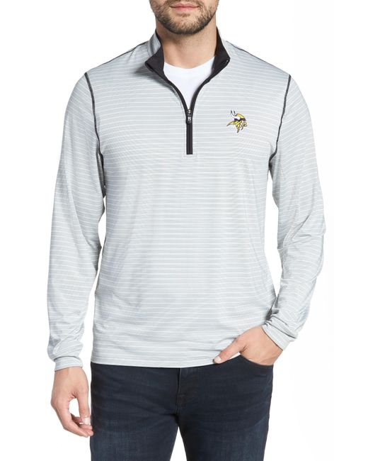 Cutter & Buck - Multicolor Meridian - Minnesota Vikings Regular Fit Half Zip Pullover for Men - Lyst