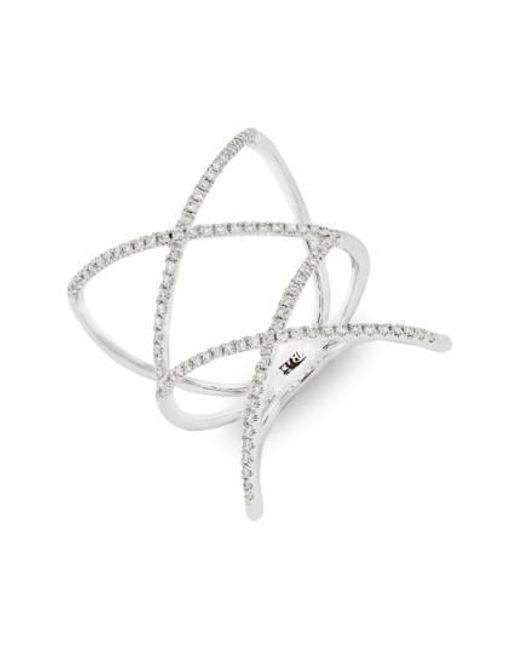 Bony Levy | Metallic Diamond Double Crisscross Ring (nordstrom Exclusive) | Lyst