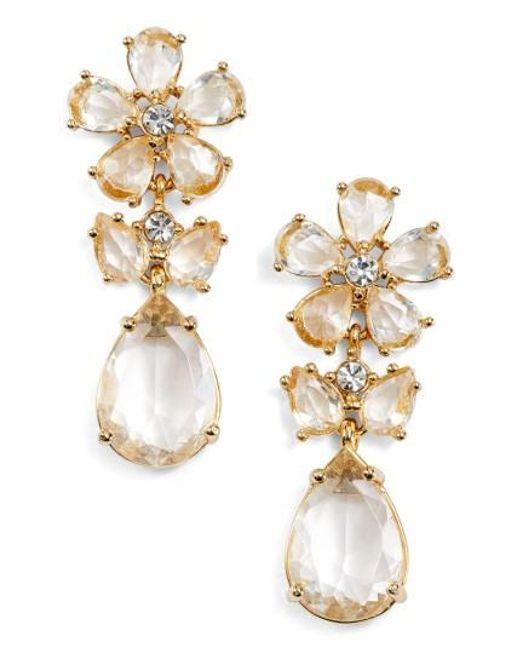 Kate Spade   Metallic In Full Bloom Cluster Drop Earrings   Lyst