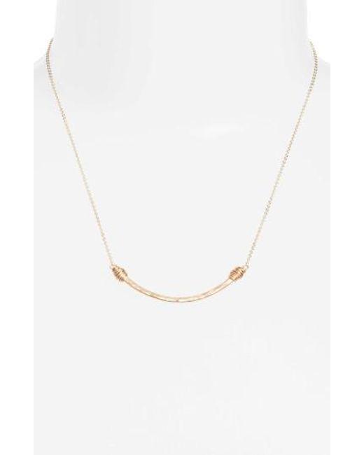 Nashelle | Metallic Pure Curve Necklace | Lyst